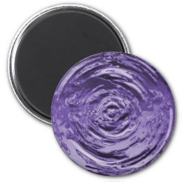 Water Ripple Purple Magnet