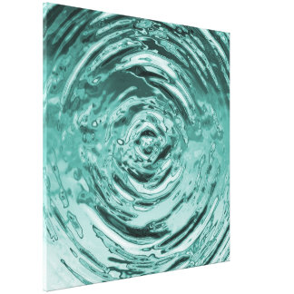 Water Ripple Teal Canvas Print