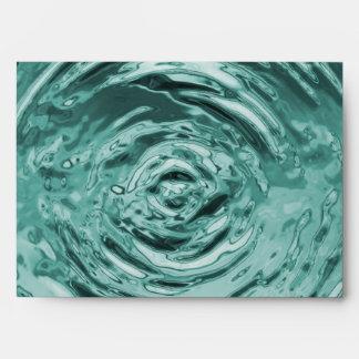 Water Ripple Teal Card Envelope