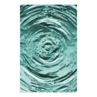 Water Ripple Teal Craft Paper Stationery Design