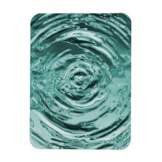 Water Ripple Teal Rectangular Photo Magnet