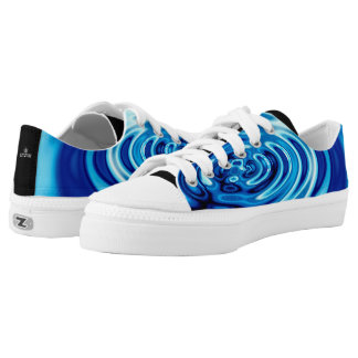 Water Ripples Abstract 101 Low-Top Sneakers