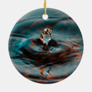 Water Ripples and Droplet Christmas Tree Ornaments