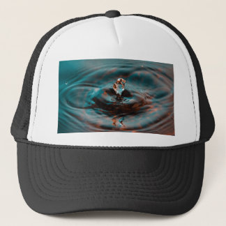 Water Ripples and Droplet Trucker Hat