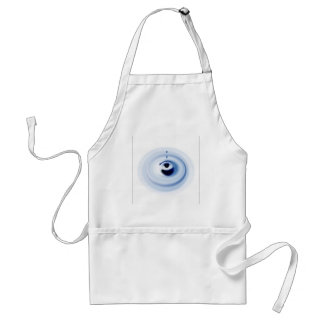 Water ripples design adult apron
