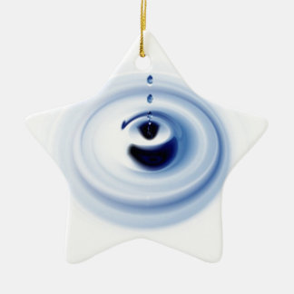 Water ripples design christmas tree ornaments