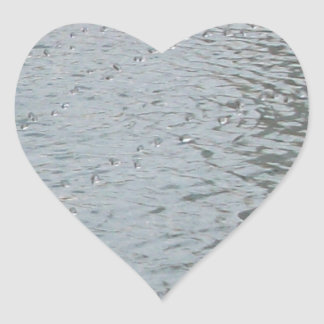 Water Ripples Heart Sticker