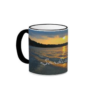 Water ripples in sunset - Sardis Lake Coffee Mugs