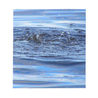 Water ripples notepad