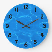 Water Ripples Pattern Large Clock