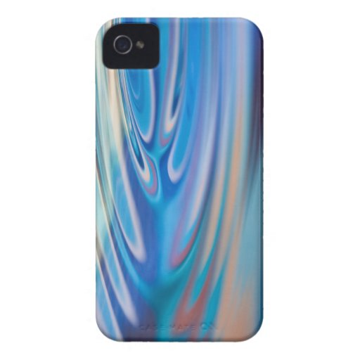 Water Ripples turquoise Abstract multicolor iPhone 4 Case