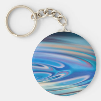 Water Ripples turquoise Abstract multicolor Keychain