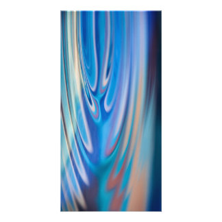 Water Ripples turquoise Abstract multicolor Customized Photo Card
