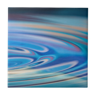 Water Ripples turquoise Abstract multicolor Ceramic Tiles