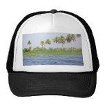 Water rippling in the coastal lagoon hat