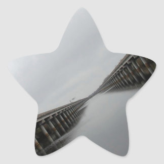 Water Roadway Canal Star Sticker