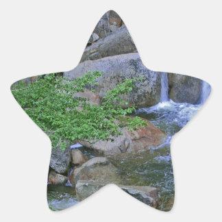 Water Rocky Wilderness Flows Star Sticker
