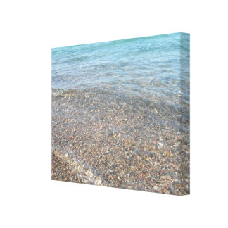 Water rolling in stretched canvas print