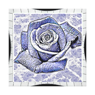 Water rose gallery wrap canvas