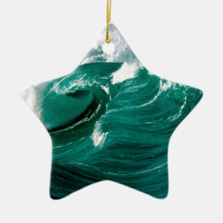 Water Rough Seas Ahead Ceramic Ornament