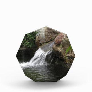 Water running over rocks award