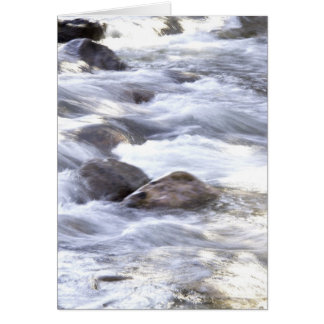 Water Rushing By Greeting Card