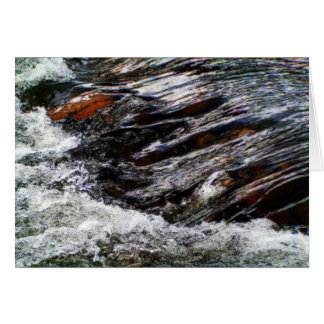 Water Rushing Over Rocks Card