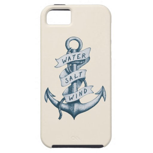 Water Salt and Wind Anchor Tattoo iPhone 5/5S Cover