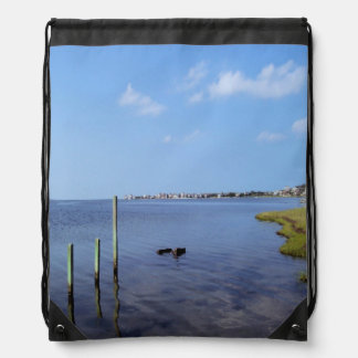 Water Scene - Wooden Post Markers Backpack