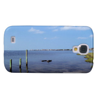 Water Scene - Wooden Post Markers Samsung Galaxy S4 Cases