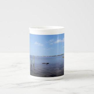 Water Scene - Wooden Post Markers Tea Cup