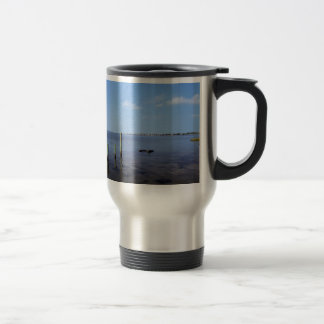Water Scene - Wooden Post Markers Travel Mug