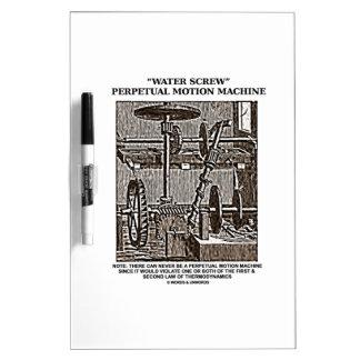 Water Screw Perpetual Motion Machine Woodcut Dry-Erase Board