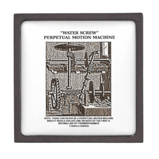 Water Screw Perpetual Motion Machine Woodcut Keepsake Box