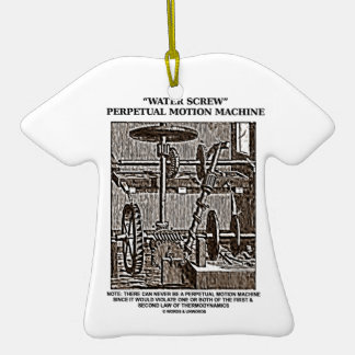 Water Screw Perpetual Motion Machine Woodcut Christmas Ornaments