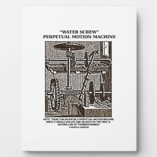 Water Screw Perpetual Motion Machine Woodcut Plaque