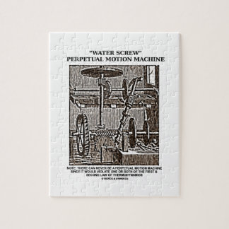 Water Screw Perpetual Motion Machine Woodcut Jigsaw Puzzle