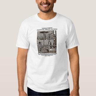 Water Screw Perpetual Motion Machine Woodcut Tee Shirt