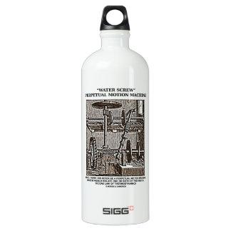 Water Screw Perpetual Motion Machine Woodcut Water Bottle