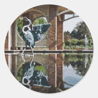 Water Sculpture Round Sticker