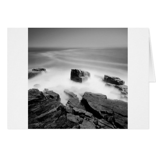 Water Sea Mist Craggs Greeting Cards