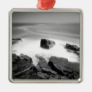 Water Sea Mist Craggs Metal Ornament