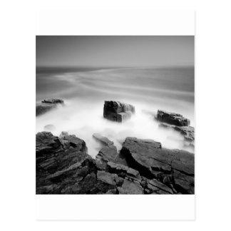 Water Sea Mist Craggs Postcard