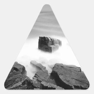 Water Sea Mist Craggs Triangle Sticker