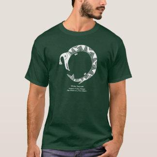 Water Serpent, Mimbres Pottery Design T-Shirt