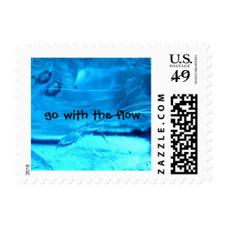 Water shows us to go with the flow. stamp