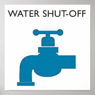 Water Shut-off Sign