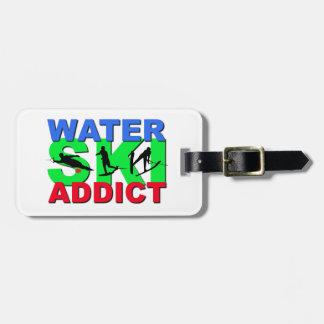 Water Ski Addict Bag Tag