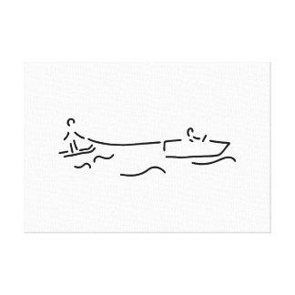 water ski boot waterski canvas print