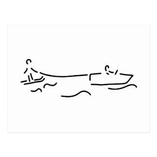 water ski boot waterski postcard